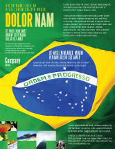 Abstract/Textures: Brazilian Flag Flyer Template #01915