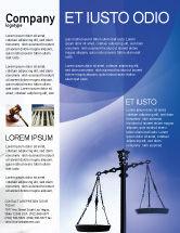 Legal: Modelo de Folheto - símbolo de justiça #01941