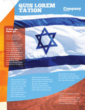 Flags/International: Flag of Israel Flyer Template #02002