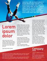 Sports: High Jump Flyer Template #02020