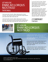Medical: Handicapped Flyer Template #02064