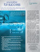 Telecommunication: Telecommunication Systems Flyer Template #02168