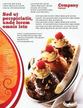 Food & Beverage: Modelo de Folheto - banana split #02192