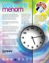 Business: Clock Face Flyer Template #02210