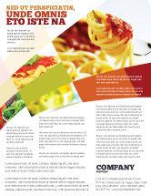 Food & Beverage: Modelo de Folheto - comida italiana #02244
