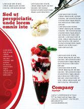 Food & Beverage: Modelo de Folheto - sorvete de framboesa #02247