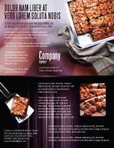 Food & Beverage: Pie In Baking Tray Flyer Template #02256