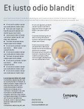 Medical: Bottle Of Tablets Flyer Template #02269