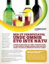 Food & Beverage: Modelo de Folheto - degustação de vinhos brancos #02342
