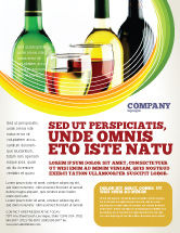Food & Beverage: White Wine Tasting Flyer Template #02342