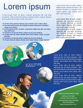 Sports: Head In Soccer Flyer Template #02365