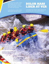 Sports: Rafting Flyer Template #02380