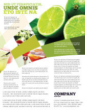 Food & Beverage: Lime Flyer Template #02460