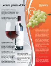 Food & Beverage: Bottle of Wine Flyer Template #02476