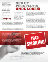 Medical: No Smoking Flyer Template #02493