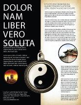 Religious/Spiritual: Modelo de Folheto - yin yang #02525