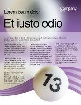 Art & Entertainment: Modelo de Folheto - bolas de loto #02574