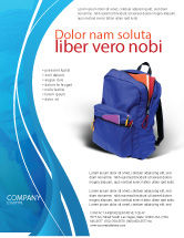 Education & Training: School Backpack Flyer Template #02577
