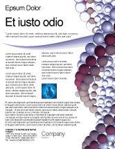 Medical: DNA On A Violet Flyer Template #02581