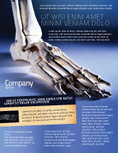 Medical: Skeletal Foot Flyer Template #02589