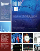 Medical: ECG in Blue Flyer Template #02617