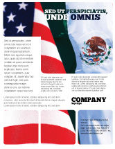 Flags/International: Mexico and USA Flyer Template #02668