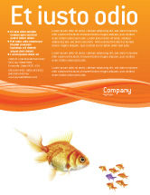 Agriculture and Animals: Goldfish Flyer Template #02710