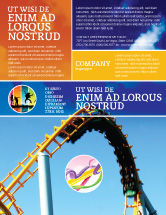 Art & Entertainment: Roller Coaster Flyer Template #02740