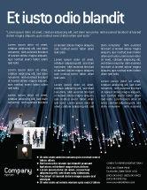 Telecommunication: Optic Fiber Flyer Template #02753