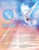 Religious/Spiritual: Modelo de Folheto - bênção santa #02764