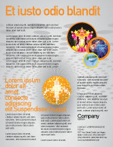 Art & Entertainment: Disco Ball Flyer Template #02785