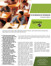 Education & Training: 学位取得証明書 - チラシテンプレート #02855