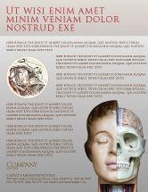 Medical: Skull As Anatomy Tutorial Flyer Template #02889