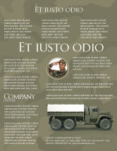 Military: Military Truck Flyer Template #02962