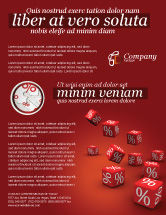 Financial/Accounting: Red Percent Cubes Flyer Template #02987