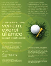 Sports: Golf Ball In The Nest Flyer Template #03010