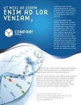 Technology, Science & Computers: Genes Flyer Vorlage #03031