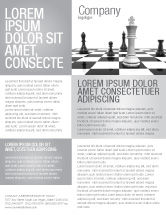 Business Concepts: Chess White Begin And Win Flyer Template #03069