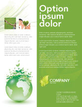 Nature & Environment: Green Environment Flyer Template #03091