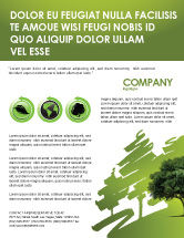 Nature & Environment: Green Tree On Light Olive Background Flyer Template #03109