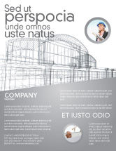 Construction: Building Design Flyer Template #03154