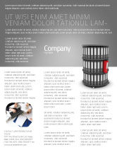 Business Concepts: Paper Case Shelf Flyer Template #03253