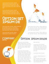 Agriculture and Animals: Jumping Goldfish Flyer Template #03286