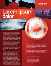 Flags/International: Canada Sign Flyer Template #03308