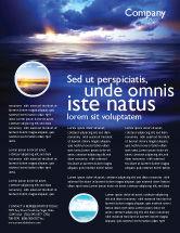 Nature & Environment: Modelo de Folheto - água do mar #03324