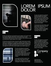 Legal: Modelo de Folheto - prisão célula prisioneiro #03377