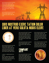 Utilities/Industrial: Transmission Facilities Flyer Template #03380