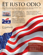 Holiday/Special Occasion: American Stars and Stripes Flag Flyer Template #03389