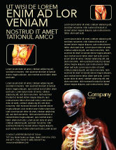 Medical: Female Anatomy Breast And Facial Bones Flyer Template #03404