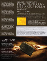 Religious/Spiritual: Modelo de Folheto - cristandade #03436